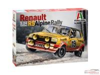 ITA3652 Renault R5 Alpine rally Plastic Kit