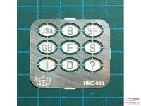 HME033 National emblems Etched metal Accessoires