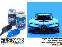 ZP1497 Bugatti Vision Turismo - Light&Dark blue set 2x30ml Paint Material