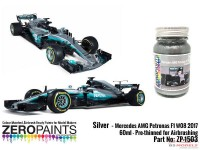 ZP1503 Mercedes AMG Petronas F1 W08 2017 silver paint 60ml Paint Material