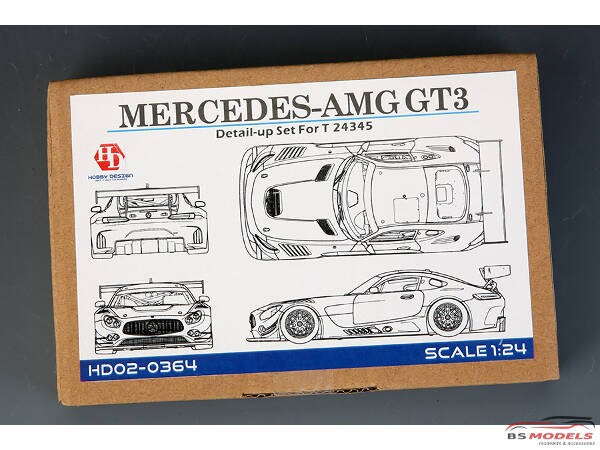 HD020364 Mercedes-AMG GT3 detail set (PE+metal parts+resin) For TAM Multimedia Accessoires
