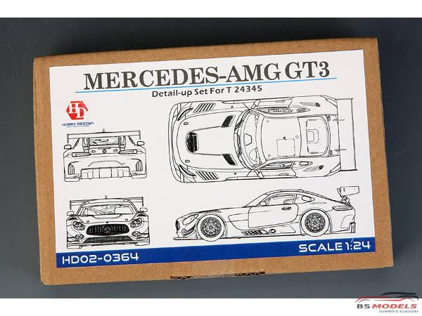 HD020364 Mercedes-AMG GT3 detail set (PE+metal parts+resin) For TAM Multimedia Accessoires