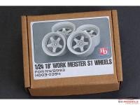 HD030394 Work Meister S1 wheels for RWB993  18' Resin Accessoires