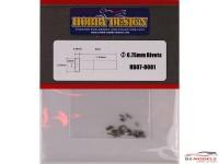 HD070001 0.75 mm Rivet Head (A)  40pcs Multimedia Accessoires