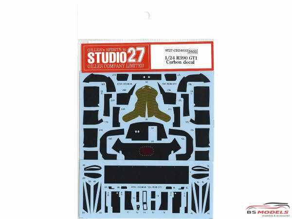 STU27CD24033 Nissan R390 GT1  Carbon decal (for TAM) Waterslide decal Decal