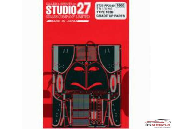 STU27FP2049 Lotus Type 102B  upgrade parts Etched metal Accessoires