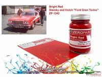 """ZP1342 Starsky & Hutch """"Ford Gran Torino""""  bright red paint 60ml Paint Material"""