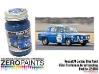 ZP1510 Renault 8 Gordini Blue paint 60ml Paint Material