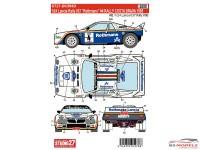 "STU27DC394D Lancia 037 ""Rothmans""  Rally Costa Brava 1985 Waterslide decal Decal"