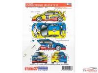 "STU27DC598C Peugeot 206 WRC ""Michelin"" Rossi  Rally GB 2002 Waterslide decal Decal"