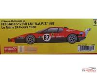 "STU27FR2407 Ferrari 512 BB LM ""N.A.R.T"" #87  LM 1978 Resin Kit"
