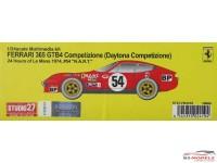 "STU27FR2419 Ferrari 365 GTB4 Daytona Competizione  #54    ""NART""   LM 1974 Resin Kit"