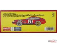 "STU27FR2421 Ferrari 365 GTB4 Daytona Competizione  #71    ""Ch Pozzi""   LM 1974 Resin Kit"