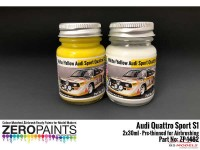 ZP1482 Audi Quattro Sport S1 Paint set 2x30ml Paint Material
