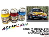 "ZP1529 Opel Manta 400 GR B ""Andrews Heat for Hire"" paint set 3x 30ml Paint Material"