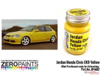 ZP1457 Jordan Honda Civic EK9 yellow paint 60ml Paint Material