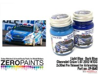 ZP1541 Chevrolet Cruze 1.6T Light blue / Dark blue WTCC 2012  2x30ml Paint Material