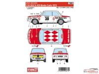 STU27DC1214 BMW 2002 ti #30 Monte Carlo 1975 Waterslide decal Decal