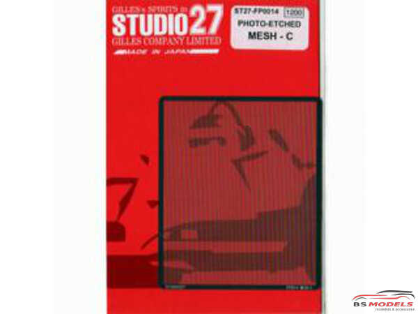 STU27FP0014 Mesh - C (netting pattern) Etched metal Accessoires
