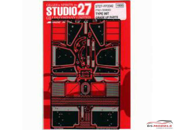 STU27FP2042 Lotus 99T upgrade parts Etched metal Accessoires