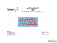 "TK24461 Audi Quattro S1 ""HB"" logo decals (For Beemax) Waterslide decal Decal"