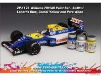 ZP1122 Williams FW14B paint set 3x30ml Paint Material