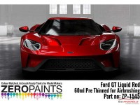 ZP1545 Ford GT Liquid Red paint 60ml Paint Material