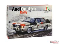 ITA3642 Audi Quattro Rally   Montecarlo 1981 Plastic Kit
