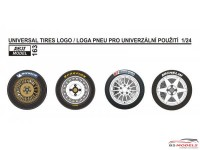 REJI163 Universal Tires logo 1/24 Waterslide decal Decal