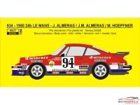 "REJI184 Porsche 934 ""Eminence Equipe Almeras"" #94  LM 1980  Transkit Multimedia Transkit"