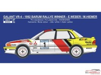 REJI275 Mitsubishi Galant Barum/Ypres rally 1992  Weber/Hiemer Waterslide decal Decal