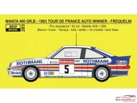 REJI283 Opel Manta 400 Gr B Tour de France winner 1983  Frequelin/Fauchille Waterslide decal Decal