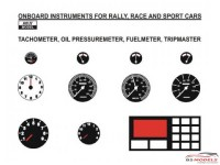 REJI288 Onboard instruments  Rally / sports cars  1/24 Waterslide decal Decal
