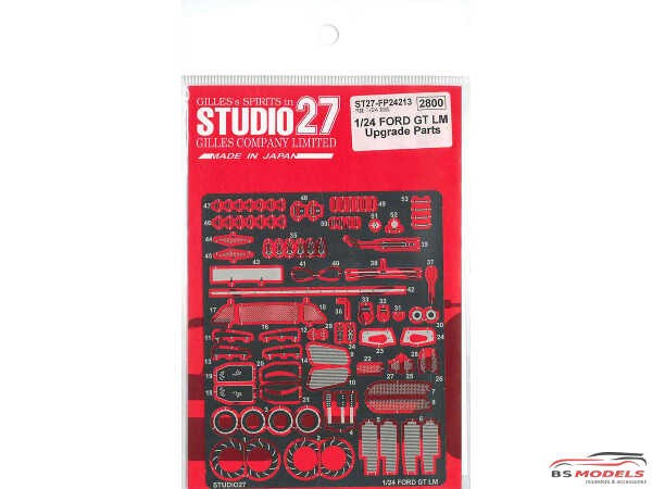 STU27FP24213 Ford GT LM upgrade parts Etched metal Accessoires