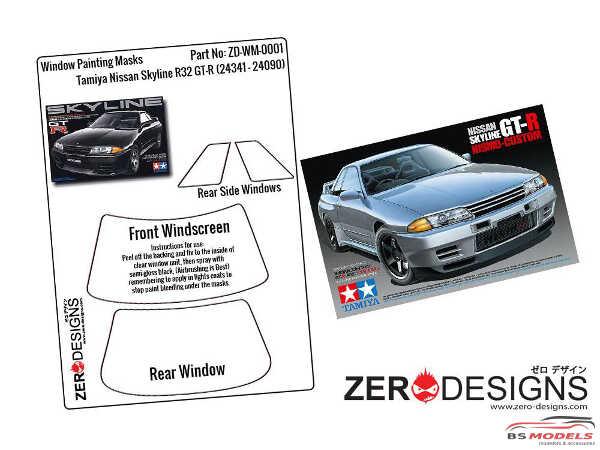 ZDWM0001 Nissan Skyline R32 GT-R Window painting masks (TAM) Multimedia Accessoires