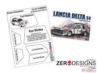 ZDWM0014 Lancia Delta S4 Rally Window painting masks (Beemax) Multimedia Accessoires