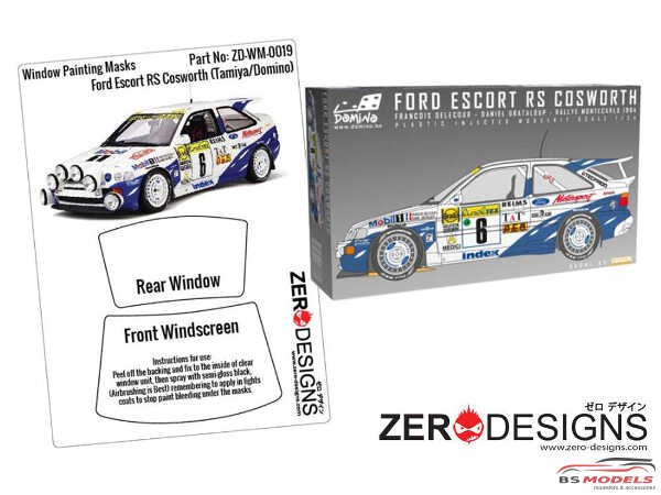 ZDWM0019 Ford Escort RS Cosworth Window painting masks (TAM / DOM) Multimedia Accessoires