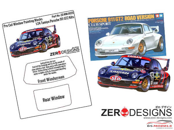 ZDWM0025 Porsche 911 GT2 Window painting masks (TAM) Multimedia Accessoires