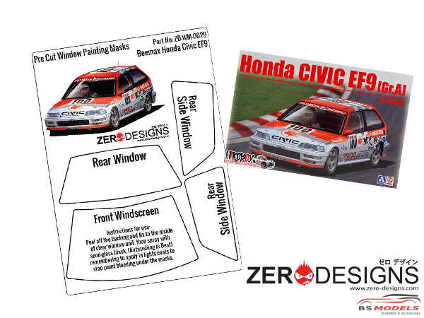 ZDWM0029 Honda Civic EF9  Window painting masks (Beemax) Multimedia Accessoires