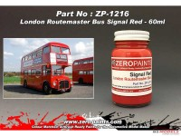 ZP1216 London Routemaster Bus Red paint   60 ml Paint Material