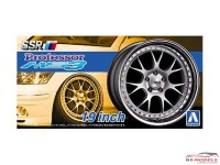 "AOS05255 SSR Professor MS3   19""  wheel set Plastic Kit"