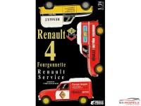 EBR25012 Renault R4 Fourgonette Service Car Plastic Kit
