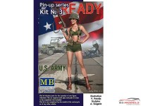 MB24003 Pin-up series #3 Alice US Army Plastic Kit