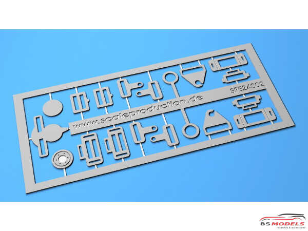 SPE24002 Seat belt buckles set of 1 Etched metal Accessoires