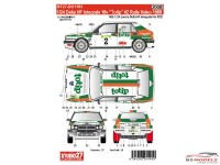 "STU27DC1183 Lancia Delta  HF Integrale 16V  ""Totip""  WRC 1990 Waterslide decal Accessoires"