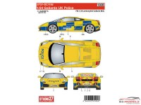 STU27DC1192 Lamborghini Gallardo  UK Police Waterslide decal Accessoires