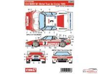 STU27DC638D BMW M1  Motul Tour de Corse  1983 Waterslide decal Decal