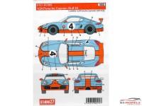 """STU27DC989 Porsche  Cayman """"Gulf"""" #4 Waterslide decal Accessoires"""