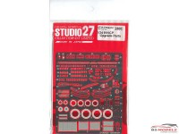STU27FP24212 Nissan R91CP  upgrade parts Etched metal Accessoires