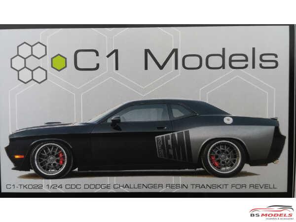 C1TK022 CDC Widebody Dodge Challenger  Transkit Resin Transkit